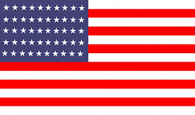 Ковер синий флаг США flag of USA